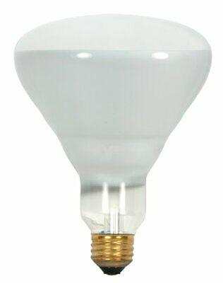 Satco S8521 130-Volt 65-Watt BR40 Medium Base Light Bulb, Frosted,