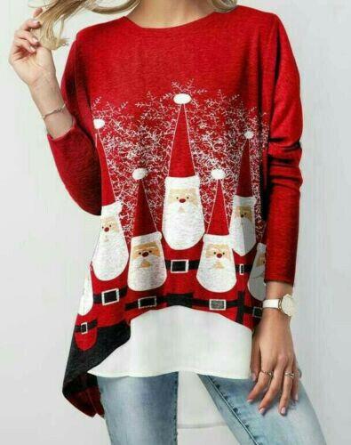 Ugly Christmas Sweater Women Sweatshirt Hoodies Blouse Xmas