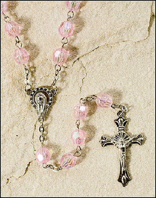 Lovely Pink Iridescent Rosary