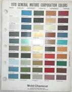 Chevrolet Color Chart