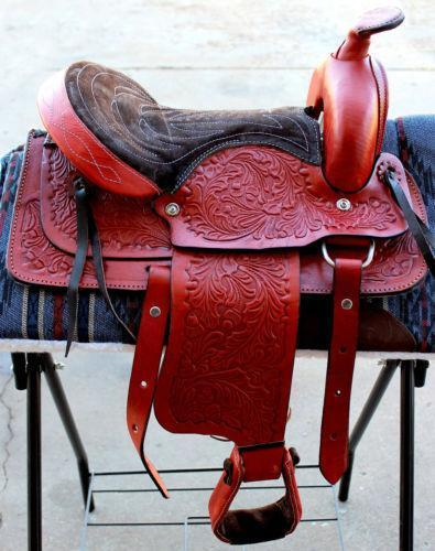 13 Great American Youth Child Horse Saddle Western Roping Trail