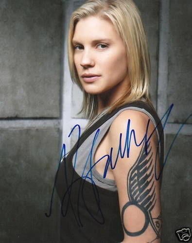 KATEE SACKHOFF.. Battlestar Galactica's Starbuck SIGNED