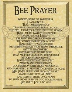 BEE-PRAYER-POSTER-Wicca-Pagan-Witch-Witchcraft-Goth-Punk-BOOK-OF-SHADOWS