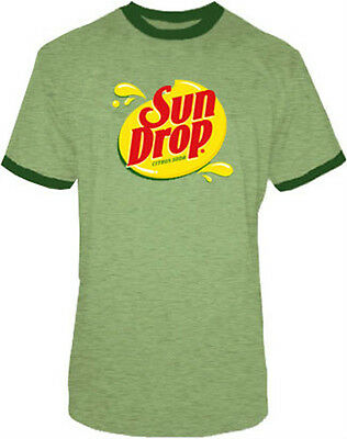 Kostüme Adult T Shirt Tee (Adult Men's Sun Drop It Sundrop Citrus Soda Green Commercial Costume T-Shirt Tee)