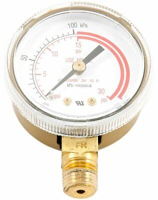 Forney 87730 Acetylene Gauge Low Pressure 2-inch-by-14-inch Npt 0-30 Psi
