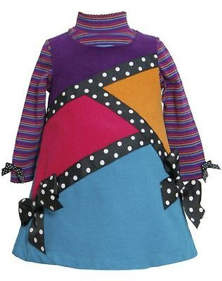 Bonnie Jean Girl A-line Dress Long Sleeve Top Jumper Set Fall Outfit Corduroy 2T ()