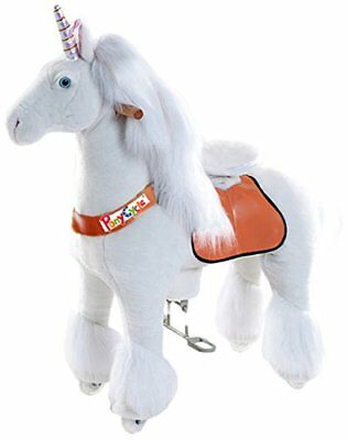 Official PonyCycle Unicorn Ride On Toy | Medium White Horse for 4-9 Years Old - Ride On Toys For 4 Year Olds