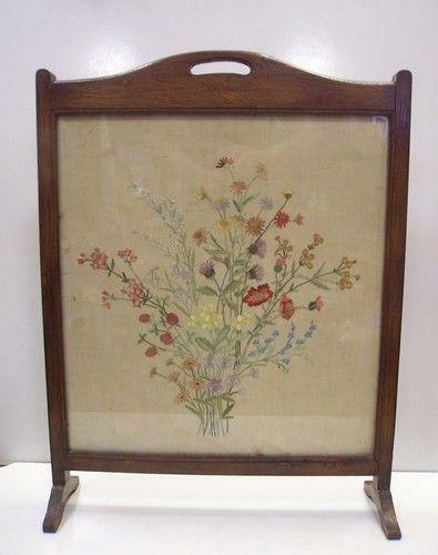Antique Fire Screen Ebay