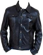 Mens Leather Jacket 3XL