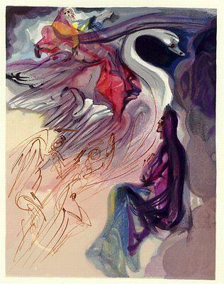 Salvador Dali Divine Comedy Paradise / Heaven Canto 19: The Language of the Bird