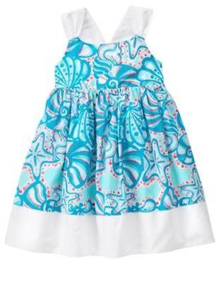 NWT Gymboree mermaid Cove Seaprint Dress Toddler Girl Sizes 2T,3T