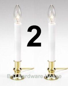 2 Pack -Darice Window Candle Light Lamp w/ bulb -Electric Automatic Sensor -Xmas