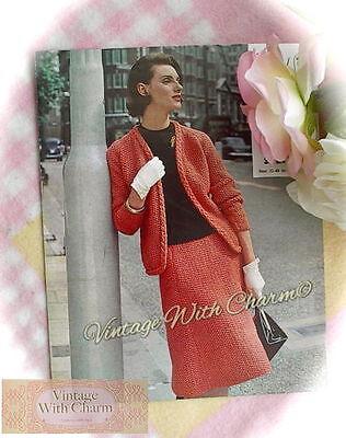 Free Knitting Pattern Stitches (Vintage Knitting Pattern Lady's Moss Stitch Skirt & Jacket Suit FREE UK P&P !! )