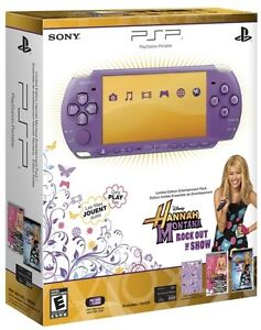 Sony PSP 3000 Hannah Montana Entertainment Pack Lilac Handheld System