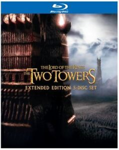 The Lord of the Rings: The Two Towers (Extended Edition 5-Disc) [Blu-ray] NEW!