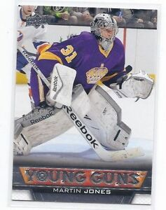 MARTIN JONES .... 2013-14 Upper Deck Young Guns .... ROOKIE CARD