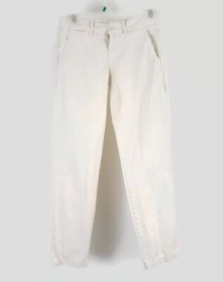 J.Crew  Women's City Fit Waverly Chino  Pants Casual Size 0 White