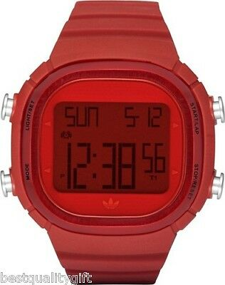 NEW ADIDAS UNISEX SEOUL DIGITAL RED RUBBER BAND WATCH-ADH2072