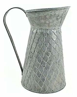 Touch of Nature Galvanized Tin Pitcher Container 9.75 Inch 1Pc