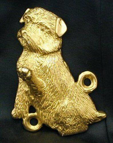 NORFOLK TERRIER Hook in Bronze