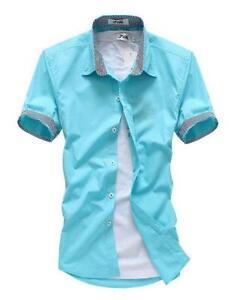 Mens Short Sleeve Dress Shirts | eBay
