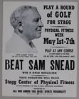 Sam Snead Vintage Sports Posters