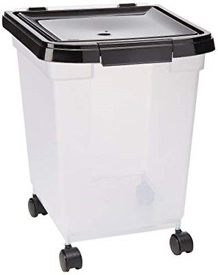 Large Dry Pet Food Storage Sealed Container Bin Dog Cat Supply BPA Free 25 Lbs