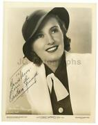 Barbara Stanwyck Signed
