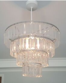 CRYSTAL LOOK CHANDELIER/S FROM NEXT