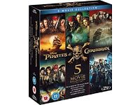 Pirates of the Caribbean 1-5 (Blu-ray) [2017] [Region Free]
