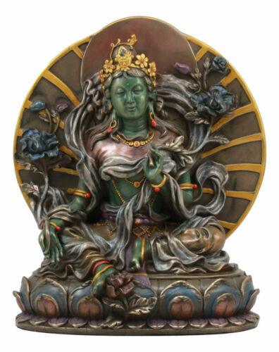 Large Arya Green Tara Statue Buddha Figurine Syamatara Bodhisattva Jetsun Dolma