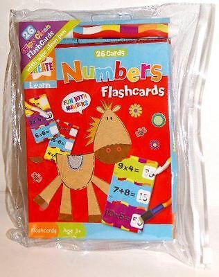 Kids Number Flash Card Educational Children Resource Fun Learning Math Pocket