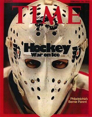 Bernie Parent Philadelphia Flyers Time Magazine Photo   Select Size