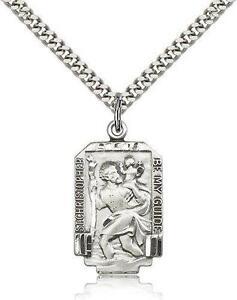 St christopher necklace ebay st christopher sterling silver necklace aloadofball Gallery