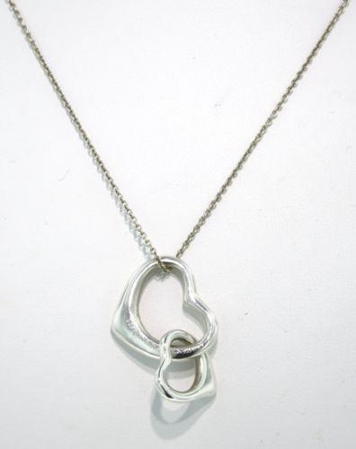 07c68240a Tiffany Double Heart Pendant | eBay