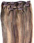 Clip in Hair Extensions Brown Blonde