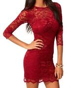 John Zack Red Lace Dress