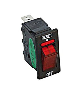 Rocker Switch with Circuit Breaker 10A Illuminated