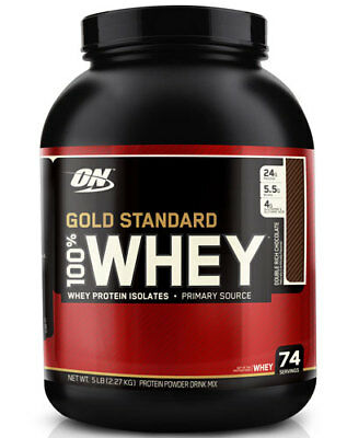 Optimum Nutrition Gold Standard 100% Whey Double Rich Chocolate 5 (Optimum Nutrition 100 Whey Protein Gold 5 Lbs)
