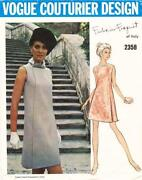 Vintage Vogue Couturier Sewing Pattern