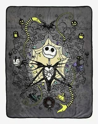 Nightmare Before Christmas Throw Blanket Jack Skellington Snakes 48x60 Fleece