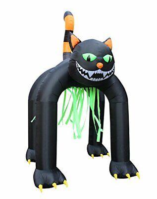 Jumbo 13 Foot Tall Halloween Inflatable Black Cat Archway Outdoor Indoor Holida