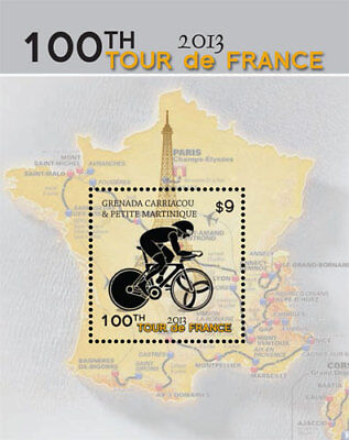 Grenadines - 2014 Tour De France 100th Edition Stamp - S/S MNH