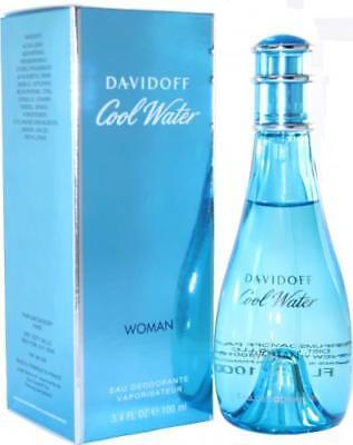 Cool Water by Zino Davidoff for Women. Deodorant Spray 3.4 Oz. 3.4 Oz Zino Davidoff Cool Water