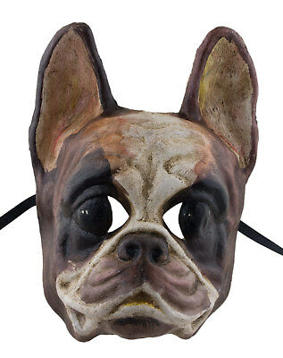 Mask Venice Dog Bulldog Paper Mache Craft Standing Collection Luxury 2296 X23