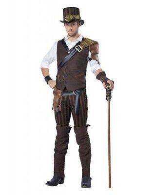 Erwachsene Steampunk Adventurer Unheimlich Gruselig Bösewicht Halloween - Steampunk Männliche Kostüm