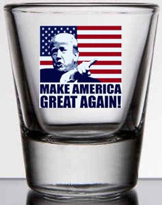 - Trump MAGA 2 oz. whiskey / shot glass NEW