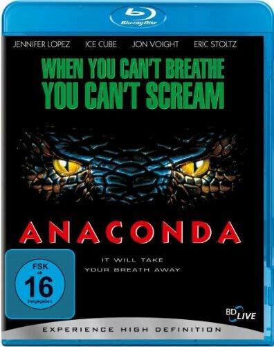 Anaconda Blu-Ray NEUWERTIG mit Jennifer Lopez, Ice Cube, Owen Wilson, Jon Voight