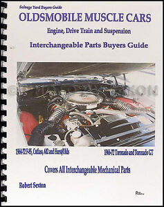 442 Cutlass Toronado Parts Interchange Book 1965 1966 1967 1968 1969 1970 1971
