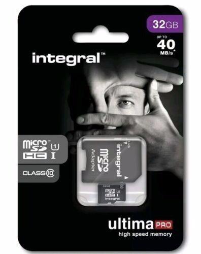 INTEGRAL 32GB MICRO SD MEMORY CARD ULTIMA-PRO CLASS 10 BRAND NEW